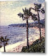 Laguna Beach Palm Vista Metal Print