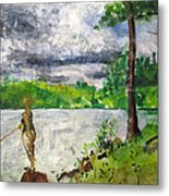 Lake-2 Metal Print by Vladimir Kezerashvili