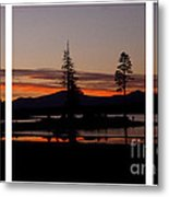 Lake Almanor Sunset Triptych Metal Print