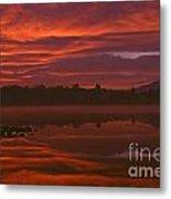 Lake Cassidy Draatic Sunrise Metal Print