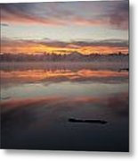 Lake Cassidy Reflections Dramatic Clouds Metal Print