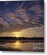 Lake Cassidy With Mount Pilchuck Metal Print