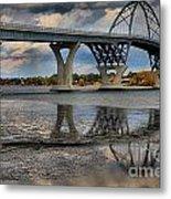 Lake Champlain New Bridge Metal Print