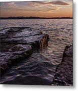 Lake Champlain Sunset Burlington Vermont Oakledge Park Metal Print