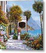 Lake Como-la Passeggiata Al Lago Metal Print