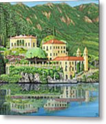 Lake Como Morning Metal Print