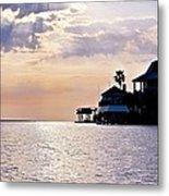 Lake Como On The Gulf Coast Sunset Metal Print