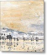 Lake Constance In Winter Metal Print