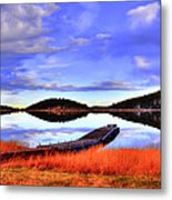 Lake Dock Metal Print