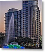 Lake Eola Water Fountain  Metal Print