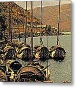 Lake Er Hai Boats Metal Print