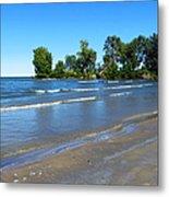 Lake Erie At Sheldon Marsh 2 Metal Print