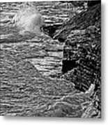 Lake Erie Waves Metal Print