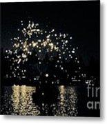 Lake Fireworks Metal Print