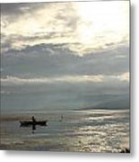 Lake Fishing Metal Print