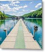 Lake Fontana Boats And Ramp In Great Smoky Mountains Nc Metal Print