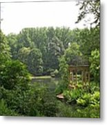 Lake Gazebo Metal Print