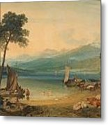 Lake Geneva And Mount Blanc Metal Print