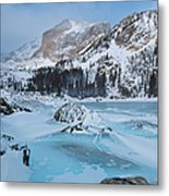 Lake Haiyaha Winter Metal Print