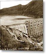 Lake Hodges And Dam San Diego County California  1952 Metal Print