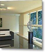 Lake House Living Room View Metal Print