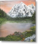 Lake In Austria Metal Print