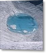 M-05416-lake In Summit Crater On South Sister Metal Print