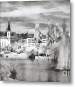 Lake In The Budapest City Metal Print