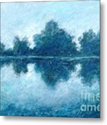 Lake In The Morning Metal Print
