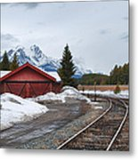 Lake Louise Depot Metal Print