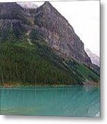 Panoramic Lake Louise, Alberta - Morning Reflections Metal Print