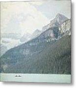 Lake Louise Solitude - Alberta Canada - Square Metal Print