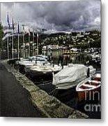 Lake Maggiore Boats Metal Print