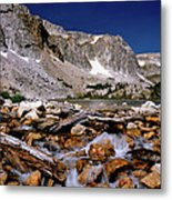 Lake Marie Snowy Range Metal Print