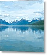 Lake Mcdonald Reflection In Glacier  National Park-montana Metal Print