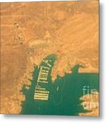 Lake Mead From The Air Metal Print