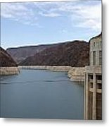 Lake Mead Seen From The Hoover Dam Metal Print