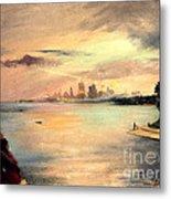Lake Michigan Chicago Skyline 1952 Metal Print