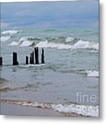 Lake Michigan Green Metal Print