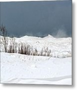 Lake Michigan Ice Metal Print