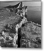 Lake Michigan Ice V Metal Print