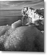 Lake Michigan Ice X Metal Print