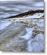 Lake Michigan Shelf Ice Metal Print