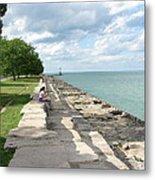 Lake Michigan Shore Near Foster Ave Beach Metal Print