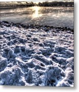 Lake Mjosa Sunset Metal Print