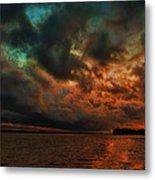 Lake Murray Fire Sky Metal Print