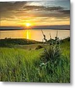 Lake Oahe Sunset Metal Print