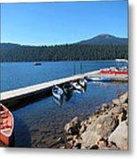 Lake Of The Woods Boat Harbor Metal Print