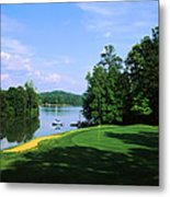 Lake On A Golf Course, Legend Course Metal Print