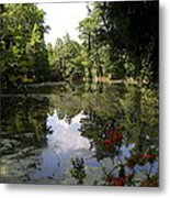 Lake On The Plantation Metal Print